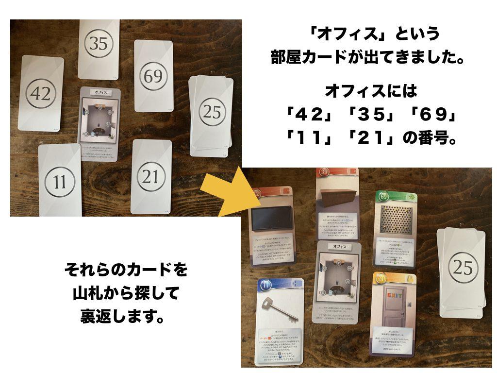 unlock部屋カード、ゲームの進め方